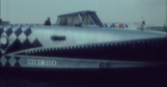 Berlin 1970 70s 16mm River Boat Moby Dick Flags Stock Footage