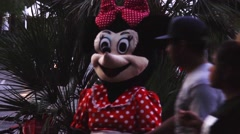 Knockoff Mini Mouse - Disney Plagiarism in Las Vegas Street Performer Stock Footage