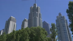 Buildings in Puerto Madero Buenos Aires Stock Footage