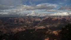 Stock Video Footage of America's Grand Canyon - Fast Moving Clouds Time Lapse