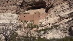 Sedona Arizona Montezuma Castle native Sinagua Indian ruins HD 002 Stock Footage