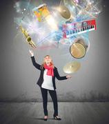 Music juggler Kuvituskuvat