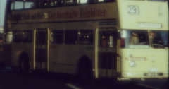 Stock Video Footage of Berlin 1970 70s 16mm Bus Passing Line 29