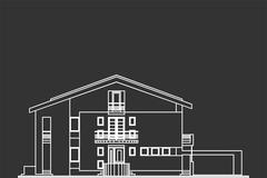 Stock Illustration of Architectural Vector Of Standard House Facade