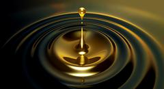 oil droplet - stock illustration