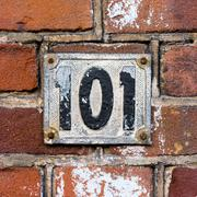 number 101 - stock photo