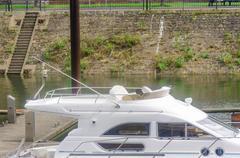 Flybridge, yacht, motorboat, boat Kuvituskuvat