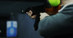 AK47 firing semi automatic in slow motion - stock footage