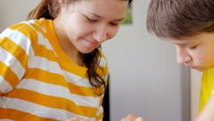 Kids playing a game together  Stock Footage