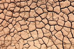 Parched soil during the drought Stock Photos