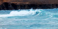 Storm on the coast of the atlantic ocean Stock Photos