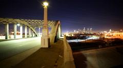 Time Lapse of 6th Street Bridge in Downtown LA Stock Footage