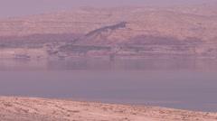 Panorama of dead sea israel Stock Footage