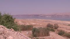 Dead sea panorama Stock Footage