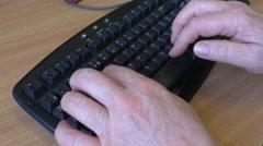 Keyboarding data entry Stock Footage