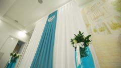 Decorated place for wedding ceremony Stock Footage