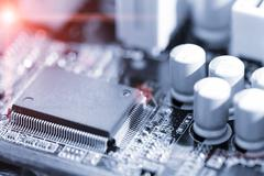 pcb board - stock photo