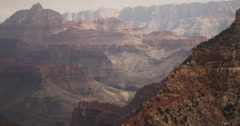 Magnificent Panning View of America's Grand Canyon in Arizona Stock Footage