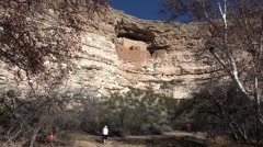 Sedona Arizona Montezuma Castle couple hike trail HD 008 Stock Footage