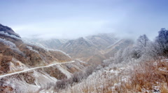 Stock Video Footage of Movement of the clouds on the mountains, Northern Caucasus, Russia. FULL HD