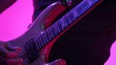 Solo guitarist playing guitar Stock Footage