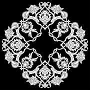 artistic ottoman pattern series fifty three version - stock illustration