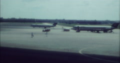 Berlin 1970 70s 16mm Central Airport Planes Stock Footage