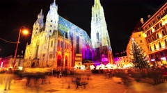The St.Stephen's Cathedral in Vienna Stock Footage