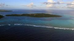 Beautiful Panorama of the Micronesian Island of Yap Stock Footage