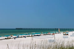 Panama City Beach, Florida looking south Stock Footage