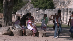 Commerce in third world countries.Mexico,Chichen Itza Stock Footage