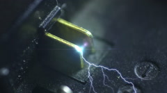 electrical charging power shocking - stock footage
