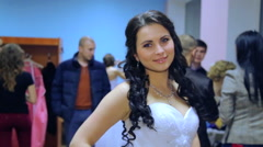 "VINNITSA, UKRAINE - DECEMBER 12: Competition ""Bride of the Year. "" Stock Footage"