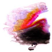 Stock Illustration of modern art yellow, black, pink avant-guard artist seamless  back