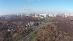 The city from a bird's flight Stock Footage