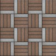 Gray and Brown Pavement Rectangles. Seamless Texture. Stock Illustration
