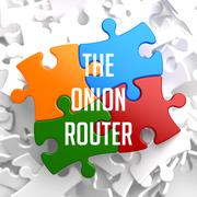 Stock Illustration of The Onion Router on Variegated Puzzle.