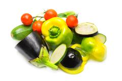 Vegetables on white background Stock Photos