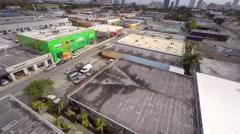 Aerial 4k video wynwood art walls 5 Stock Footage