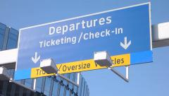 Departures Sign at Airport Stock Footage