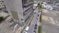 Aerial 4k video wynwood art walls 12 Stock Footage