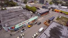Aerial 4k video wynwood art walls 9 Stock Footage