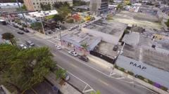Aerial 4k video wynwood art walls 11 Stock Footage