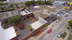 Aerial 4k video wynwood art walls 13 Stock Footage