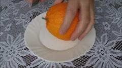 Removing orange peel Stock Footage