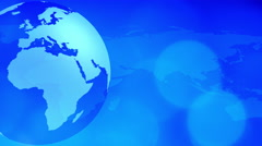 Map and rotating world globe motion background Stock Footage