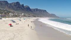 Camps Bay Beach Stock Footage
