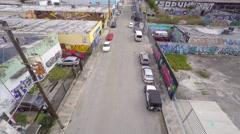 Aerial 4k video wynwood art walls 14 Stock Footage