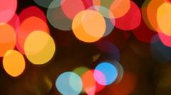 Christmas Lights.Variable focus Stock Footage