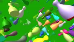 Flying pieces generated 3D video Stock Footage